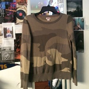 Camouflage Thick Crewneck Long Sleeve